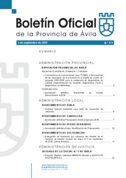 Boletín Oficial de la Provincia del miércoles, 4 de septiembre de 2019