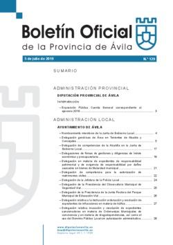 Boletín Oficial de la Provincia del viernes, 5 de julio de 2019