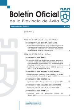 Boletín Oficial de la Provincia del martes, 5 de noviembre de 2019