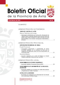 Boletín Oficial de la Provincia del miércoles, 6 de febrero de 2019