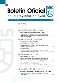 Boletín Oficial de la Provincia del miércoles, 6 de marzo de 2019