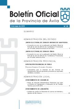 Boletín Oficial de la Provincia del lunes, 6 de mayo de 2019