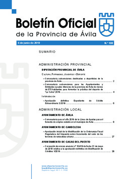 Boletín Oficial de la Provincia del jueves, 6 de junio de 2019