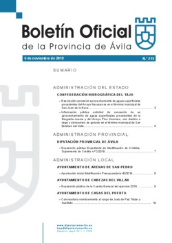 Boletín Oficial de la Provincia del miércoles, 6 de noviembre de 2019