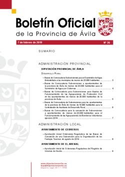 Boletín Oficial de la Provincia del jueves, 7 de febrero de 2019