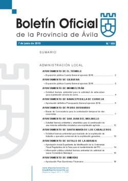 Boletín Oficial de la Provincia del viernes, 7 de junio de 2019