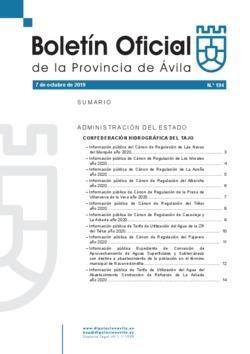 Boletín Oficial de la Provincia del lunes, 7 de octubre de 2019
