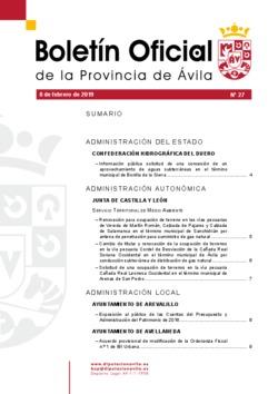 Boletín Oficial de la Provincia del viernes, 8 de febrero de 2019