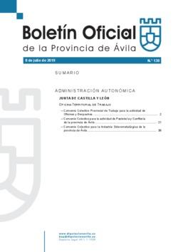 Boletín Oficial de la Provincia del lunes, 8 de julio de 2019