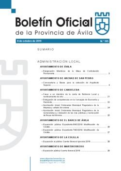 Boletín Oficial de la Provincia del martes, 8 de octubre de 2019