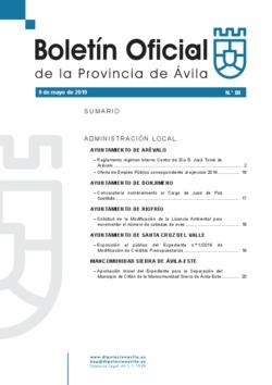 Boletín Oficial de la Provincia del jueves, 9 de mayo de 2019