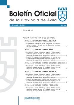 Boletín Oficial de la Provincia del miércoles, 9 de octubre de 2019