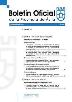 Boletín Oficial de la Provincia del martes, 11 de junio de 2019