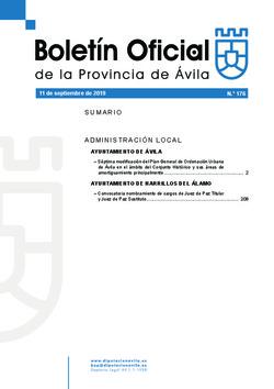 Boletín Oficial de la Provincia del miércoles, 11 de septiembre de 2019