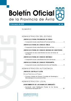 Boletín Oficial de la Provincia del martes, 12 de marzo de 2019
