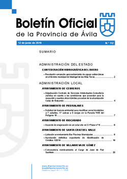 Boletín Oficial de la Provincia del miércoles, 12 de junio de 2019