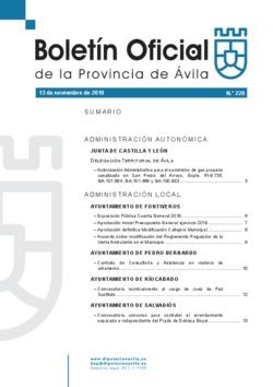 Boletín Oficial de la Provincia del miércoles, 13 de noviembre de 2019