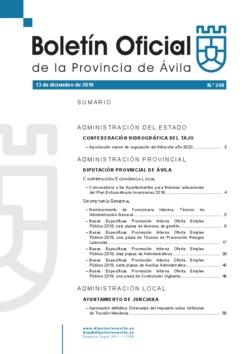 Boletín Oficial de la Provincia del viernes, 13 de diciembre de 2019
