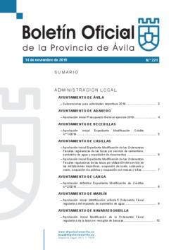 Boletín Oficial de la Provincia del jueves, 14 de noviembre de 2019