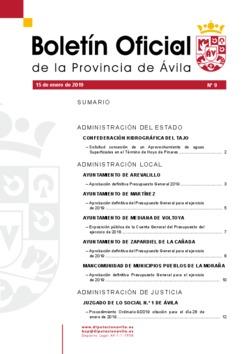 Boletín Oficial de la Provincia del martes, 15 de enero de 2019