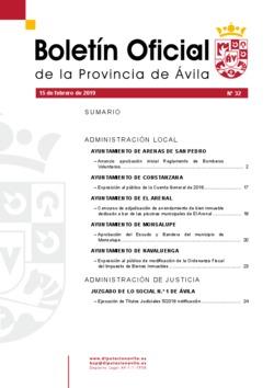 Boletín Oficial de la Provincia del viernes, 15 de febrero de 2019