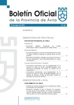 Boletín Oficial de la Provincia del miércoles, 15 de mayo de 2019