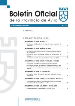 Boletín Oficial de la Provincia del viernes, 15 de noviembre de 2019