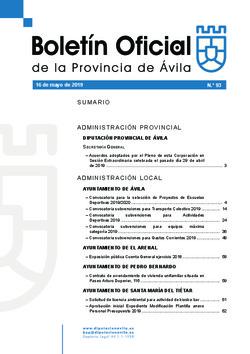 Boletín Oficial de la Provincia del jueves, 16 de mayo de 2019