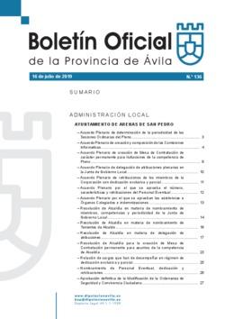 Boletín Oficial de la Provincia del martes, 16 de julio de 2019