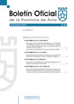 Boletín Oficial de la Provincia del miércoles, 16 de octubre de 2019