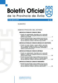 Boletí Oficial de la Provincia del 17-04-2019