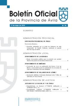 Boletín Oficial de la Provincia del viernes, 17 de mayo de 2019