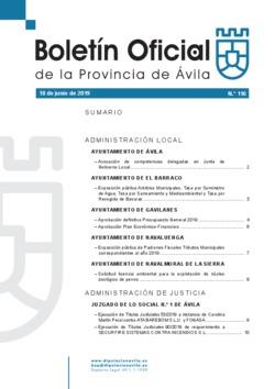 Boletín Oficial de la Provincia del martes, 18 de junio de 2019