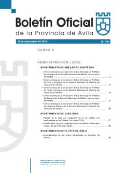 Boletín Oficial de la Provincia del miércoles, 18 de septiembre de 2019