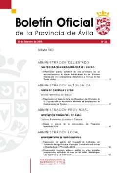 Boletín Oficial de la Provincia del martes, 19 de febrero de 2019