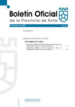 Boletín Oficial de la Provincia del martes, 19 de marzo de 2019
