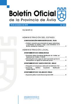 Boletín Oficial de la Provincia del martes, 19 de noviembre de 2019