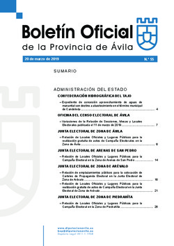 Boletín Oficial de la Provincia del miércoles, 20 de marzo de 2019