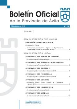 Boletín Oficial de la Provincia del jueves, 20 de junio de 2019