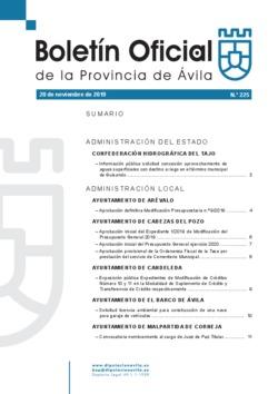 Boletín Oficial de la Provincia del miércoles, 20 de noviembre de 2019