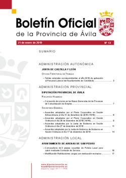Boletín Oficial de la Provincia del lunes, 21 de enero de 2019