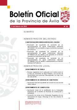 Boletín Oficial de la Provincia del jueves, 21 de febrero de 2019