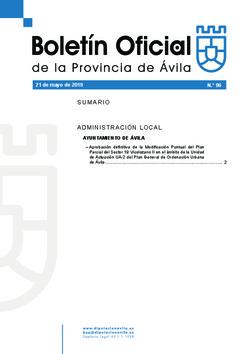 Boletín Oficial de la Provincia del martes, 21 de mayo de 2019