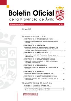 Boletín Oficial de la Provincia del martes, 22 de enero de 2019