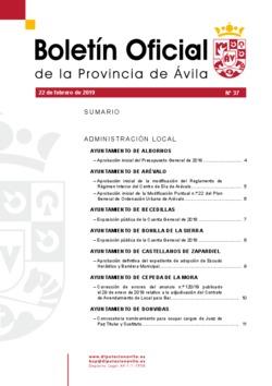 Boletín Oficial de la Provincia del viernes, 22 de febrero de 2019