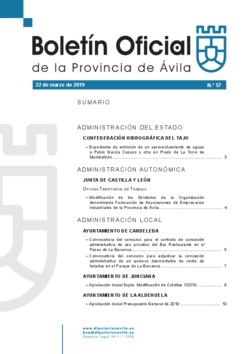 Boletín Oficial de la Provincia del viernes, 22 de marzo de 2019