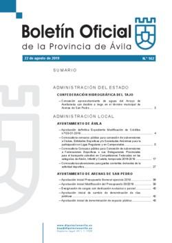 Boletín Oficial de la Provincia del jueves, 22 de agosto de 2019