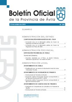 Boletín Oficial de la Provincia del martes, 22 de octubre de 2019