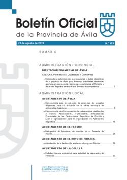 Boletín Oficial de la Provincia del viernes, 23 de agosto de 2019