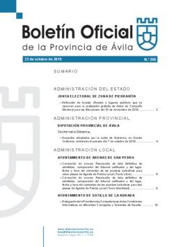 Boletín Oficial de la Provincia del miércoles, 23 de octubre de 2019